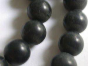 ~ BLACK JASPER 8mm ROUND  SEMI PRECIOUS STONE BEADS ~ sp29b