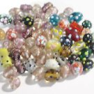 LOT OF 56 BUMP BEADS 10mm to 25mm GLASS  BEADS ~F312