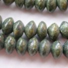 ~ RUSSIAN SERPENTINE 8mmX4mm RONDELLE  SEMI PRECIOUS STONE BEADS ~ sp257