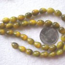 40 YELLOW TO BROWN 10mmX8mm  GLASS  BEADS ~Z79A