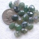 20 MOSS AGATE 10mmX8mm  FACETED  SEMI PRECIOUS BEADS ~Z54B