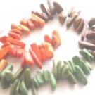 ~ DYED MAGNESITE 3-4mmX15-25mm RANDOM SHAPES & SIZE SEMI PRECIOUS  BEADS ~ sp673