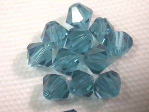 360 GENUINE SWAROVSKI 5301 INDICOLITE  6MM CRYSTAL BICONE  BEADS