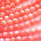 ~  RED CORAL WITH ORANGE TONES 6mm ROUND  SEMI PRECIOUS  BEADS ~ sp541