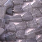 ~ GRAY QUARTZ 10-11mmX8-10mm TRIANGLE CRUDE  CUT  SEMI PRECIOUS BEADS ~ sp379