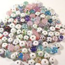 114 LAMPWORK & BUMP GLASS  BEADS  FROM 4mm - 25mm  LOT ~A45