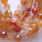 ~ SHADED CARNEALIAN  6mm ROUND FACETED  SEMI PRECIOUS  BEADS ~ sp351