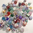 79 LAMPWORK & BUMP GLASS  BEADS  FROM 5mm TO 12mm  LOT ~A46