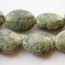 ~ RUSSIAN SERPENTINE 20mmX15mm OVAL  SEMI PRECIOUS STONE BEADS ~ sp238