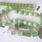 90 GREEN TONES MIX 4mm to 12mm  GLASS  BEADS ~Z79C