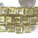 14 FOIL LINED 12mm  GLASS  BEADS ~Z79D