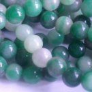 ~ GREENS WITH HINT OF PINK CANDY JADE 8mm ROUND  SEMI PRECIOUS STONE BEADS ~128