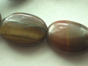 ~ BROWN TIGER EYE 20mmX10mm  SEMI PRECIOUS  BEADS ~ sp512