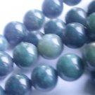 ~ GREEN SHADED AGATE 12mm ROUND  SEMI PRECIOUS STONE BEADS ~ sp137c