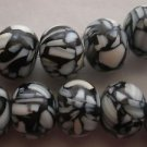 ~   MOSAIC MOTHER OF PEARL 10mmX15mm SQUAT ROUND  BEADS ~ sp615