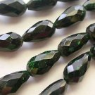 ~ GREEN STONE 15mmX8mm MAN MADE  SEMI PRECIOUS  BEADS ~ sp475