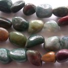 ~  FANCY JASPER 10mm  to  15mm POLISHED NUGGET  SEMI PRECIOUS  BEADS ~ sp639