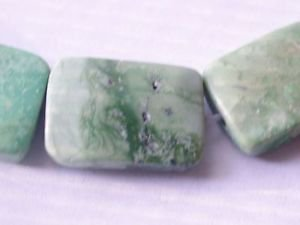 ~ VARISCITE 18mmX10mm RECTANGLE  SEMI PRECIOUS STONE BEADS ~ sp301