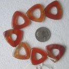 7 CARNELIAN 28.6mmX30.6mm  SEMI PRECIOUS FOCAL BEADS ~Z36B