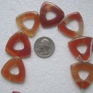 7 CARNELIAN 28.6mmX30.6mm  SEMI PRECIOUS FOCAL BEADS ~Z36A