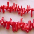 ~  BEAUTIFUL RED STICK CORAL 7-15mm  SEMI PRECIOUS  BEADS ~ sp576