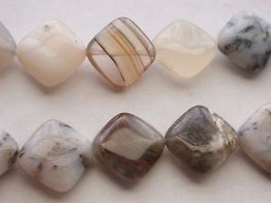 ~ MONTANA OPAL 15mm DRILLED ON DIAGONAL  SEMI PRECIOUS  BEADS ~ sp591