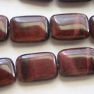 ~ RED TIGER EYE 18mmX14mm RECTANGLE  SEMI PRECIOUS  BEADS ~ sp454