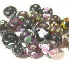 20 MULTI COLORED LAMPWORK GLASS  BEADS    LOT ~A22