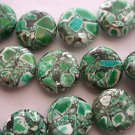 ~ DYED MAGNESITE 12nn FLAT ROUND  SEMI PRECIOUS  BEADS ~ sp646