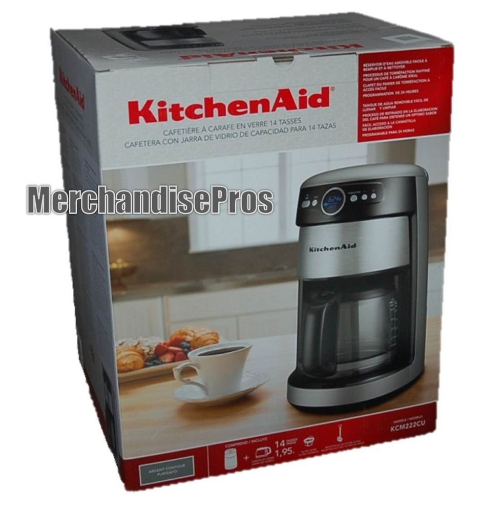 Kitchenaid Coffee Maker Stainless Steel Carafe : 14-CUP KITCHENAID STAINLESS STEEL PROGRAMMABLE PAUSE-AND-POOR COFFEE MAKER NEW!