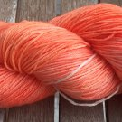 Hand Dyed Yarn - Salmon - Merino Wool, Fingering Yarn 100gr