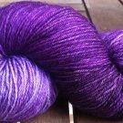 Hand Dyed Yarn - Purples - Merino Wool, Fingering Yarn 100gr