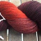 Hand Dyed Yarn -Fire Red - Merino Wool, Fingering Yarn 100gr