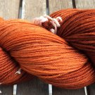 Hand Dyed Yarn -Bronze Brown Orange - Merino Wool, Fingering Yarn 100gr