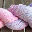 Hand Dyed Yarn - Purple Rainbow - Merino Wool, Fingering Yarn 100gr