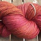 Hand Dyed Yarn -Burgundies and Browns - Superwash Merino Wool, Fingering 100gr