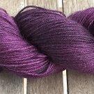 Hand Dyed Yarn - Purples in the Dark - Baby Alpaca/Mulberry Silk - Fingering Yarn 100gr