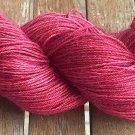 Hand Dyed Yarn - Cherry Red #2 - Baby Alpaca/Silk - Fingering Yarn 100gr