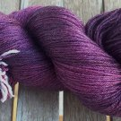 New! Hand Dyed Yarn - Morticia's Blackberries  - Merino & Mulberry Silk - Fingering 100gr