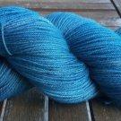 Hand Dyed Yarn - Teal - Superfine Australian Merino Wool - Fingering Yarn 100gr
