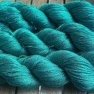 New! Hand Dyed Yarn - Emerald Jewel - 100% Pure Mulberry Silk