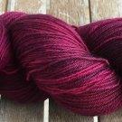 Hand Dyed Yarn - Reddish Purple- Merino Wool, Fingering