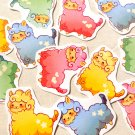 Kawaii Alpaca Stickers Pack of 12: Cute Pastel Animal Llama Planner Stickers