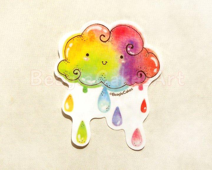 Rainbow Sticker. Kawaii Rainbow Sticker. Laptop Sticker. Waterproof Sticker. Skateboard Sticker