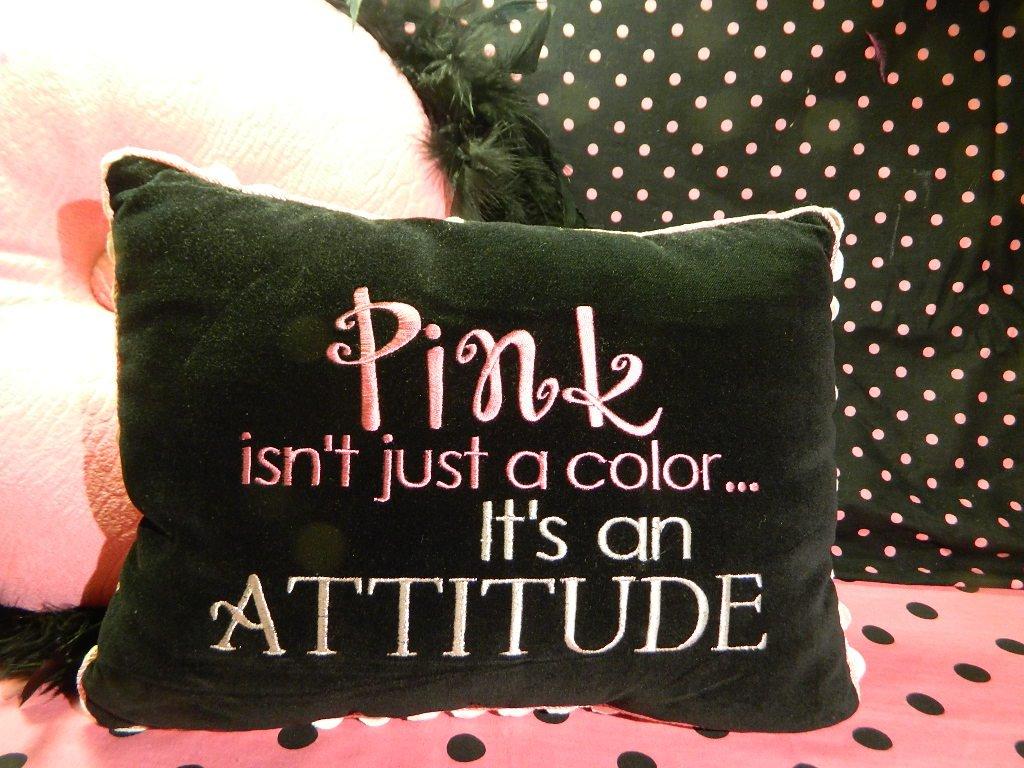 Pink Is An Attitude Decorative Throw Pillow