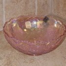 "1978 Imperial Lenox Pink Carnival Glass 7"" Hattie Bowl 42684PK NOS"