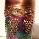 "Vintage Fenton ""Lattice & Grape"" Carnival Glass Tumbler in Cobalt"