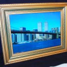 Twin Towers Framed Lighted Motion Picture