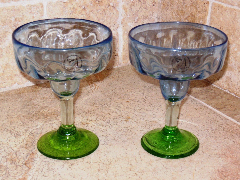Global Amici Optic Luster Margarita Glass Set of 2 NEW