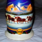 2000 Budweiser Holiday Stein  HOLIDAY IN THE MOUNTAINS with box & cert of authen